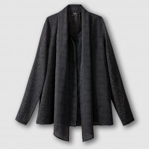 Блузка с завязками на воротнике и длинными рукавами COAL SCHOOL RAG. Цвет: черный