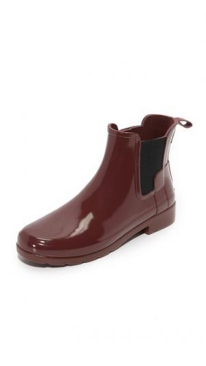 Оригинальные изысканные ботильоны челси Hunter Boots. Цвет: бурый