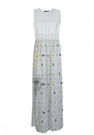 Платье GRINKO. Цвет: белый