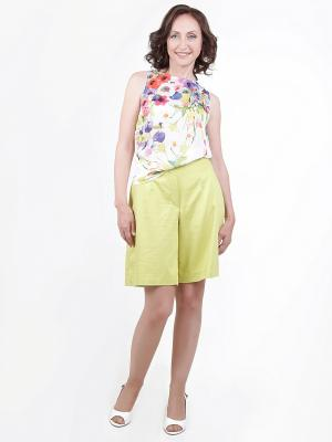Бриджи-бермуды YFS Your Fashion Style. Цвет: оливковый