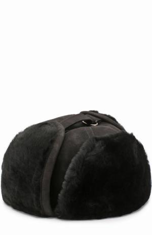 Меховая шапка-ушанка Billionaire. Цвет: черный