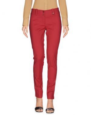 Повседневные брюки TRY ME. Цвет: кирпично-красный
