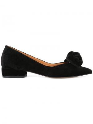 Туфли с бантом Ganni. Цвет: чёрный