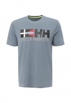 Футболка спортивная Helly Hansen. Цвет: серый