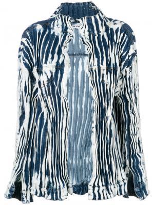 Джинсовая куртка с принтом тайдай Faustine Steinmetz. Цвет: синий