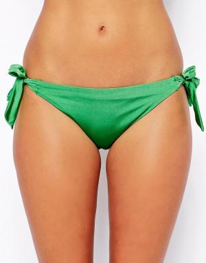 Бикини-трусики на завязках  Shimmer Hoola. Цвет: морская зелень