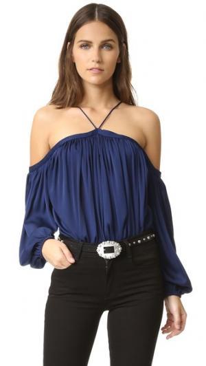 Блуза Quinn с вырезами на плечах Emerson Thorpe. Цвет: голубой