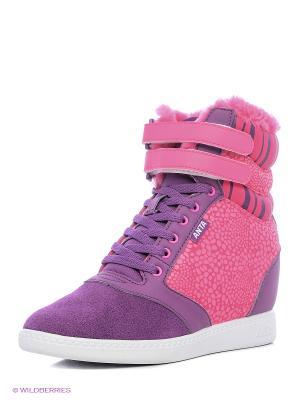 Сникеры ANTA. Цвет: фиолетовый