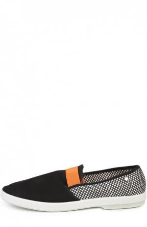 Плетеные эспадрильи Rivieras Leisure Shoes. Цвет: черный