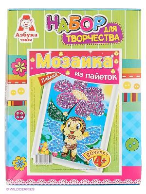 Картина из пайеток Пчёлка Азбука Тойс. Цвет: зеленый, голубой