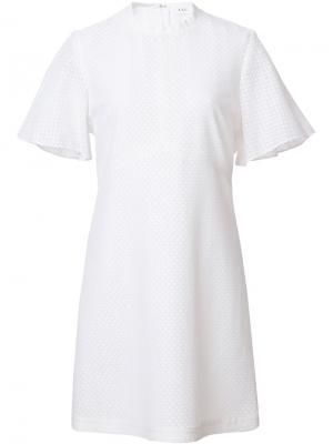 Платье с рукавами-колокольчиками A.L.C.. Цвет: белый