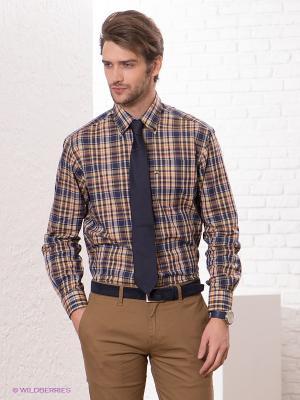 Рубашка Navigare. Цвет: темно-синий, светло-бежевый