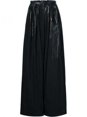 Широкие брюки Monse. Цвет: чёрный