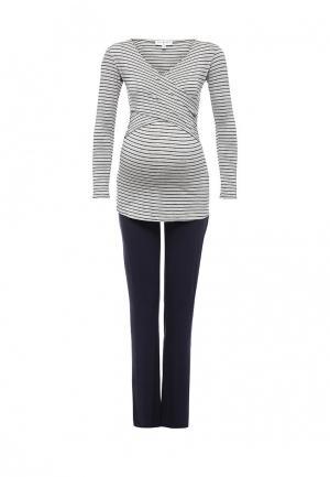 Комплект брюки спортивные и лонгслив Envie de Fraise. Цвет: разноцветный