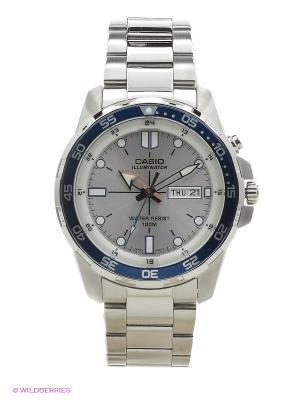 Часы Casio MTD-1079D-7A1. Цвет: белый, серебристый