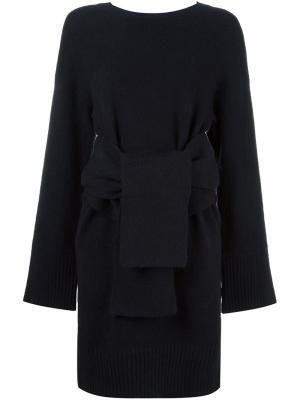 Трикотажное платье с поясом 3.1 Phillip Lim. Цвет: чёрный