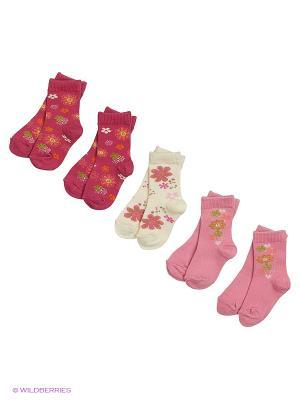 Носки Malerba. Цвет: малиновый, молочный, розовый