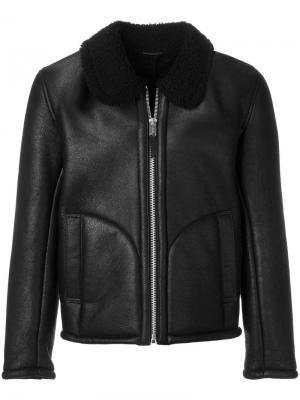 Куртка с отделкой из овчины YMC. Цвет: чёрный