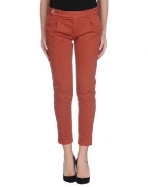 Повседневные брюки TRUE NYC.. Цвет: ржаво-коричневый