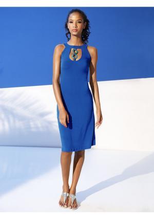 Моделирующее платье Class International. Цвет: королевский синий