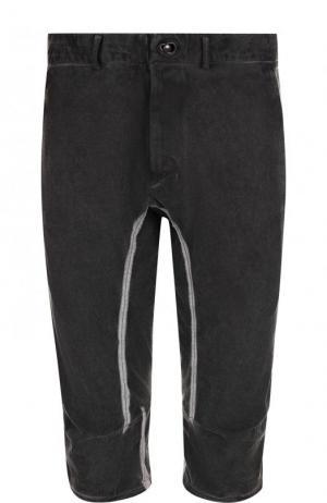 Удлиненные хлопковые шорты с отделкой Isaac Sellam. Цвет: темно-серый