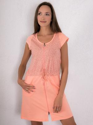 Халат Violett. Цвет: персиковый