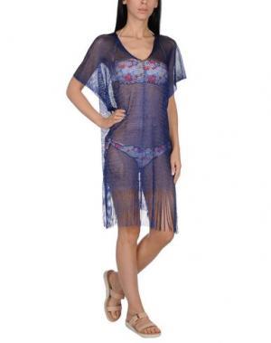 Пляжное платье FISICO. Цвет: синий