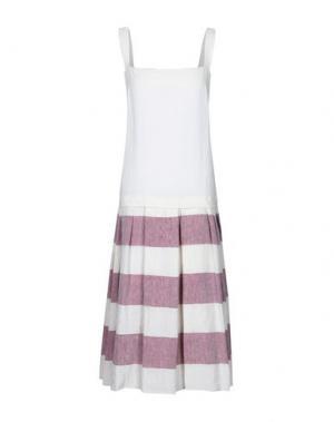 Платье длиной 3/4 A.B APUNTOB. Цвет: красно-коричневый