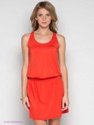 Платье INCITY. Цвет: оранжевый
