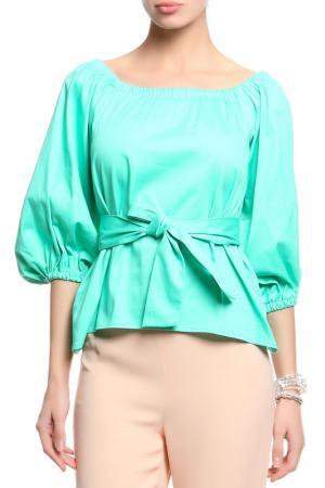Блуза PRIVATE SUN. Цвет: зеленый