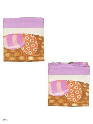 Набор полотенец для кухни - 2шт. (38*64) Dorothy's Нome. Цвет: фиолетовый