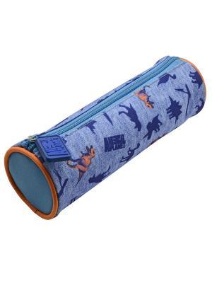 Пенал-тубус ANIMAL PLANET Дино Action!. Цвет: синий,оранжевый
