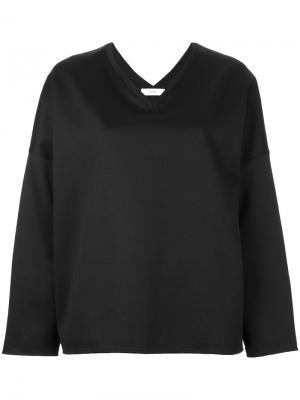 Блузка с V-образным вырезом Astraet. Цвет: чёрный