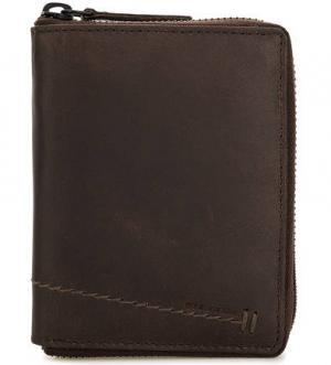 Кожаный кошелек на молнии aunts & uncles. Цвет: коричневый