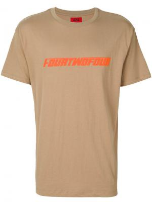 Футболка с принтом спереди 424 Fairfax. Цвет: коричневый