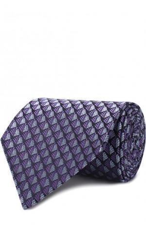 Шелковый галстук с узором Ermenegildo Zegna. Цвет: фиолетовый