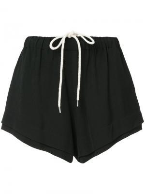 Многослойные шорты Bassike. Цвет: чёрный