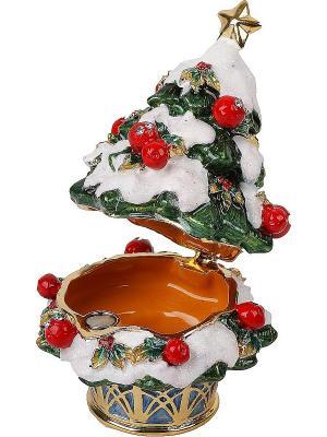 Шкатулка Елка Mister Christmas. Цвет: золотистый