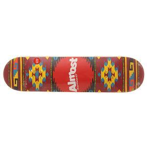 Дека для скейтборда  S6 Hyb Aztek Lava 31.2 x 7.75 (19.7 см) Almost. Цвет: мультиколор