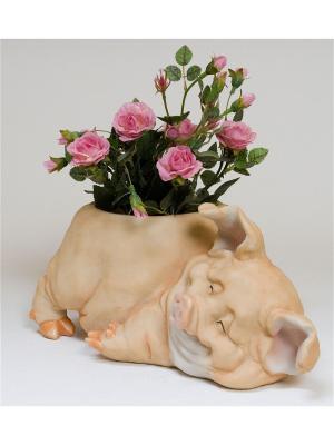 Кашпо Цветочный поросёнок Sealmark. Цвет: розовый