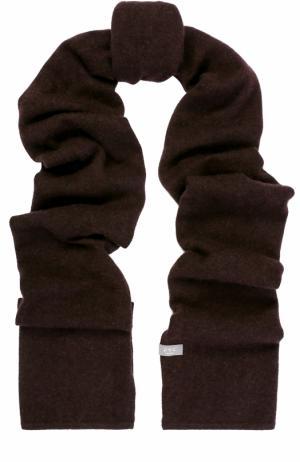 Кашемировый шарф тонкой вязки FTC. Цвет: темно-коричневый