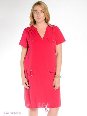 Платье Gemko plus size. Цвет: фуксия