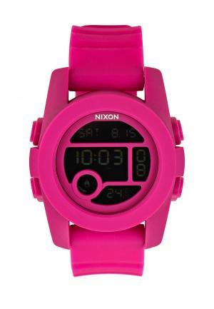 Часы Nixon. Цвет: фуксия