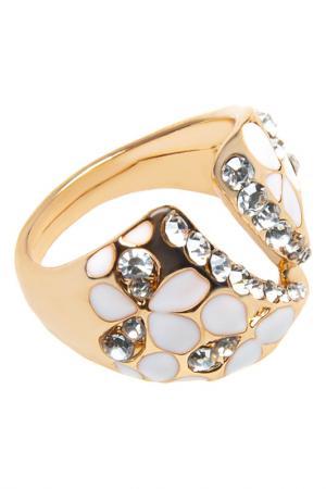 Кольцо BELLA ROSA. Цвет: white, gold
