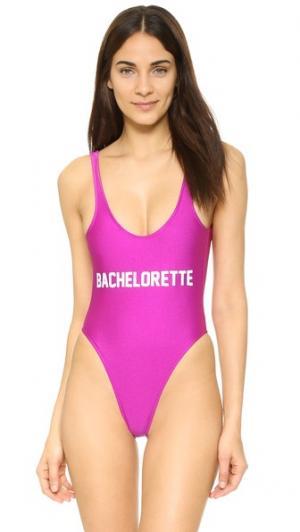 Сплошной купальник Bachelorette Private Party. Цвет: розовый
