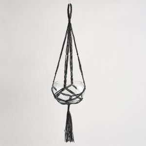 Держатель для растений подвесной черного цвета, Macramaté AM.PM.. Цвет: черный