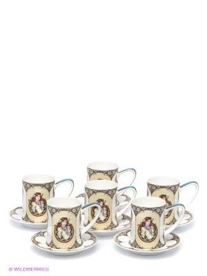 Чайный набор Габриэлла Pavone. Цвет: молочный, белый