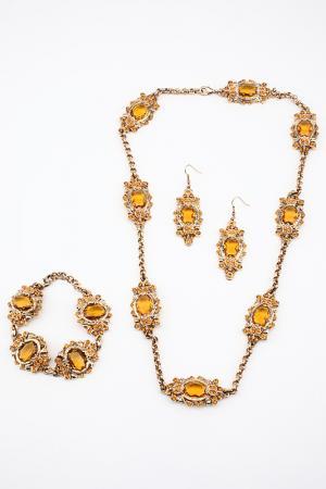 Набор I Pavoni. Цвет: золотой, камни медовые