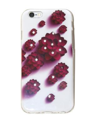 Чехол для iPhone 6/6s Lola. Цвет: бордовый, белый