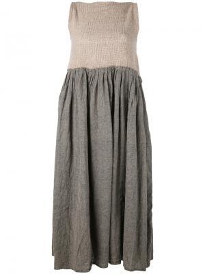 Платье пышной юбкой Daniela Gregis. Цвет: телесный